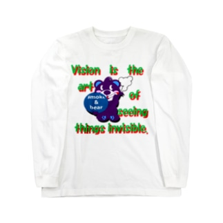 くるりんモクモックマC紫 ロングスリーブTシャツ