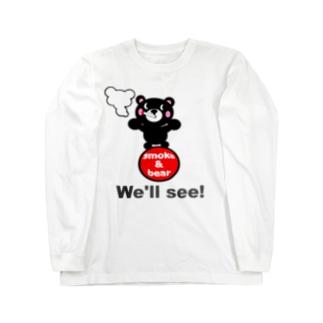 玉のりモクモックマ 黒 ロングスリーブTシャツ
