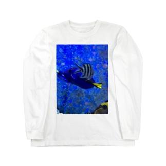 交差する魚 ロングスリーブTシャツ
