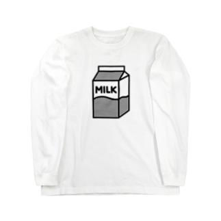 牛乳 ロングスリーブTシャツ