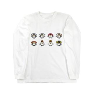 PixelArt スシスッキー8 ロングスリーブTシャツ