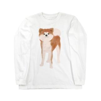 秋田犬【赤毛】 ロングスリーブTシャツ