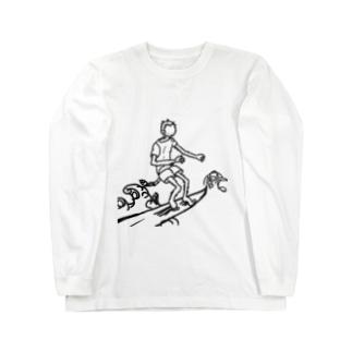 波乗りおさる ロングスリーブTシャツ
