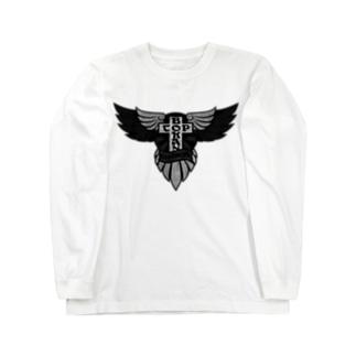 いぬまちロンTEE(モノクロ) ロングスリーブTシャツ