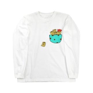 チョコミントポケット ロングスリーブTシャツ