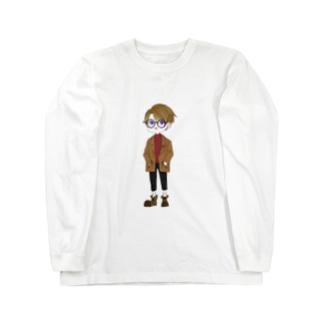 シンプル男子 ロングスリーブTシャツ