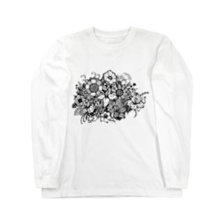 flower ロングスリーブTシャツ