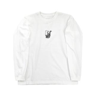 鱗猫 ロングスリーブTシャツ