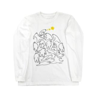 かんがえごと(くろ) ロングスリーブTシャツ