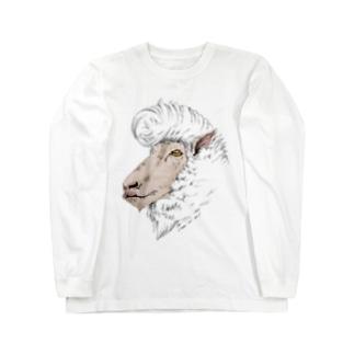 リーゼント羊(コリデール種) ロングスリーブTシャツ