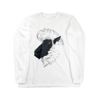 リーゼント羊(サフォーク種) ロングスリーブTシャツ