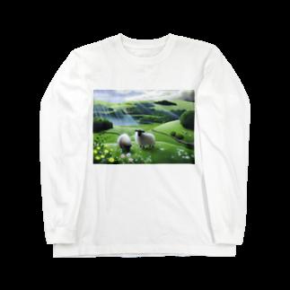 KimikoUmekawaの雨あがり ロングスリーブTシャツ