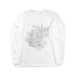 PygmyCat(グレー線ver) ロングスリーブTシャツ