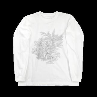 PygmyCat suzuri店のPygmyCat(グレー線ver)ロングスリーブTシャツ