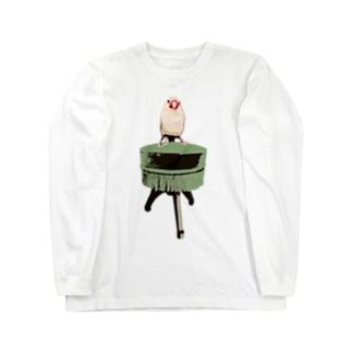 文鳥椅子 ロングスリーブTシャツ