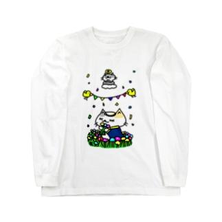 聖なる乙女!猫乙女! ロングスリーブTシャツ