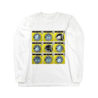 コインランドリー Coin laundry【3×3】 ロングスリーブTシャツ