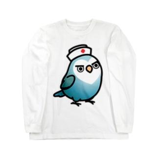 Chubby Bird ちょっと意地悪なコザクラインコ 看護婦さん ロングスリーブTシャツ