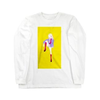 ピンクのソックス ロングスリーブTシャツ