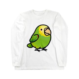 Chubby Bird ボウシインコ ロングスリーブTシャツ