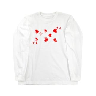 ハートの7のもやしくん ロングスリーブTシャツ