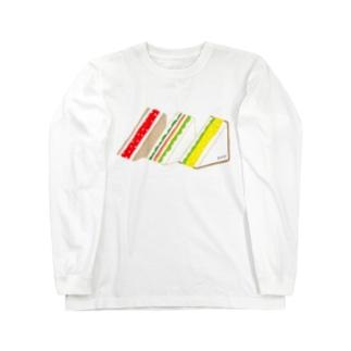 三角サンド3つ ロングスリーブTシャツ