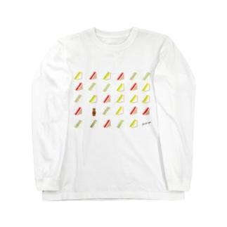 三角サンドいっぱい ロングスリーブTシャツ