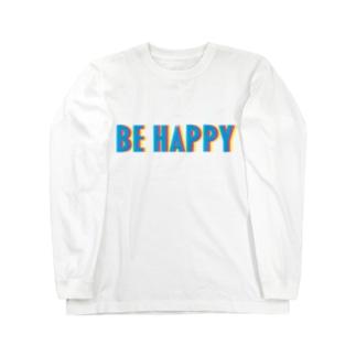 "BE HAPPY "" color "" ロングスリーブTシャツ"