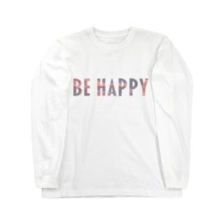 "BE HAPPY "" sky "" ロングスリーブTシャツ"