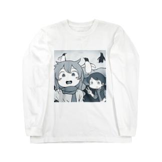 ペンギンと自撮り ロングスリーブTシャツ