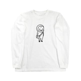 めめたん ズック(黒フチ) ロングスリーブTシャツ