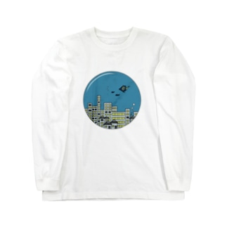 海中都市 ロングスリーブTシャツ