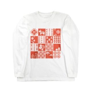 patchwork(pink) ロングスリーブTシャツ
