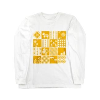 patchwork(yellow) ロングスリーブTシャツ