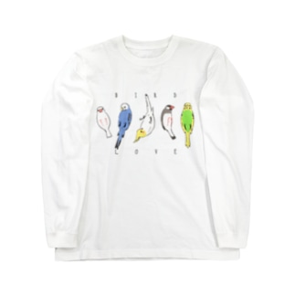仰向け鳥 ロングスリーブTシャツ