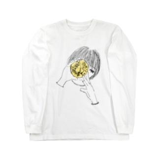 手のひらに月 ロングスリーブTシャツ