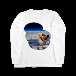 nuwtonのスペースモンゴルナイフ ロングスリーブTシャツ