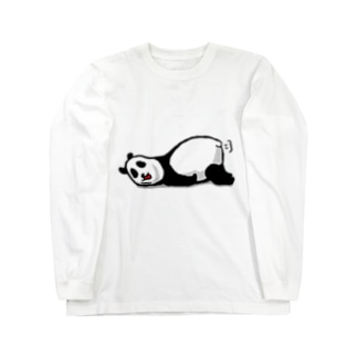 だるーいパンダ ロングスリーブTシャツ