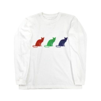 3匹のロシンアンブルー ロングスリーブTシャツ