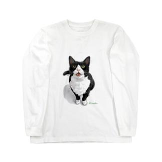 ハチワレのミミ君 ロングスリーブTシャツ