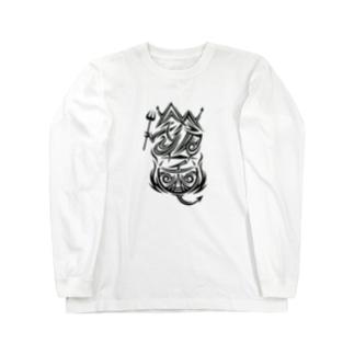 『鈴菌』文字トライバル ロングスリーブTシャツ