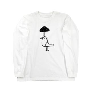 きのこ鳥 ロングスリーブTシャツ