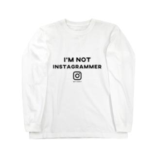 i'm not instagrammer ロングスリーブTシャツ