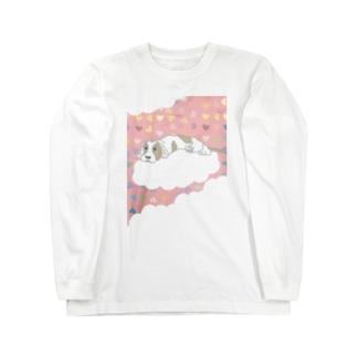 だるいんです わんこ ロングスリーブTシャツ