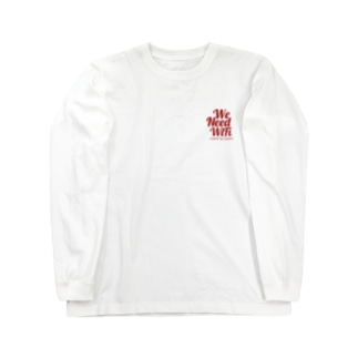 We  Need WiFi(RED) ロングスリーブTシャツ
