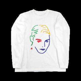 sumireiro01の美女14 ロングスリーブTシャツ