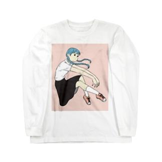 おさげの子 ロングスリーブTシャツ