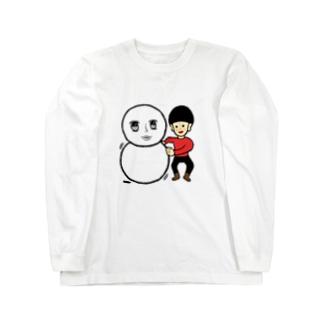 雪だるまと ロングスリーブTシャツ