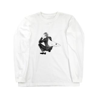 サメ ロングスリーブTシャツ