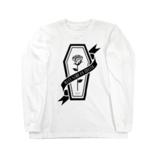 【MOON SIDE】Rose Coffin Ver.2 #Black ロングスリーブTシャツ